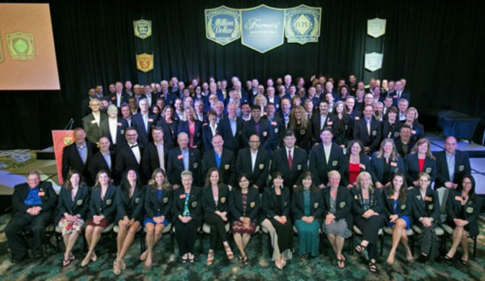 Picture of participants of Annual Million Dollar Club Celebration.