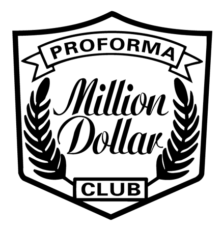Proforma Million Dollar Club Logo