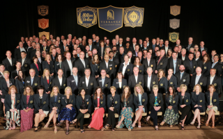 Year 2019 Million Dollar Club Members posing for a group photo at Terranea.