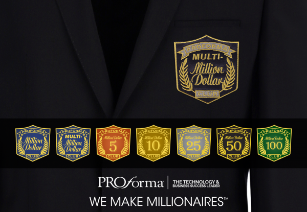 Million Dollar Club insignia on a formal jacket