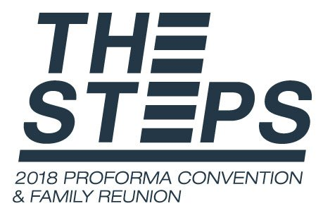 "Logo for ""The Steps"" Proforma convention and family reunion."