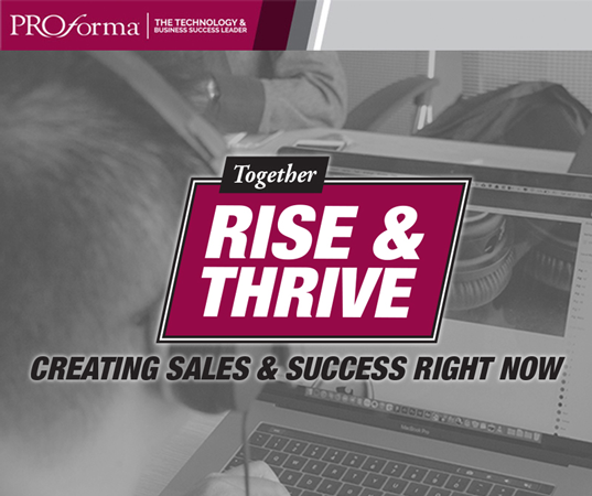 "Image graphic for Rise & Thrive Webinar. Image text says, ""Together Rise & Thrive. Creating Sales & Success Right Now"""