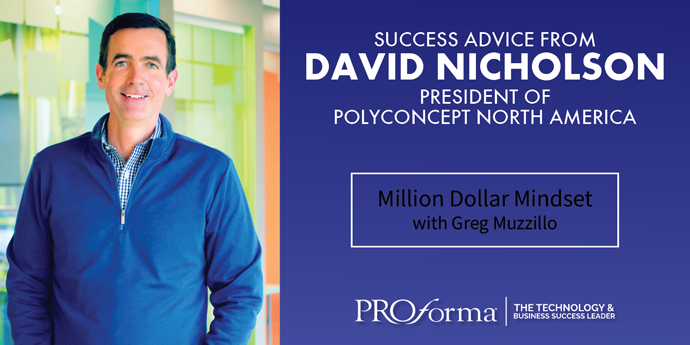 """Image graphic with David Nicholson wearing a blue sweater. Image text says, """"Success Advice From David Nicholson"""""""