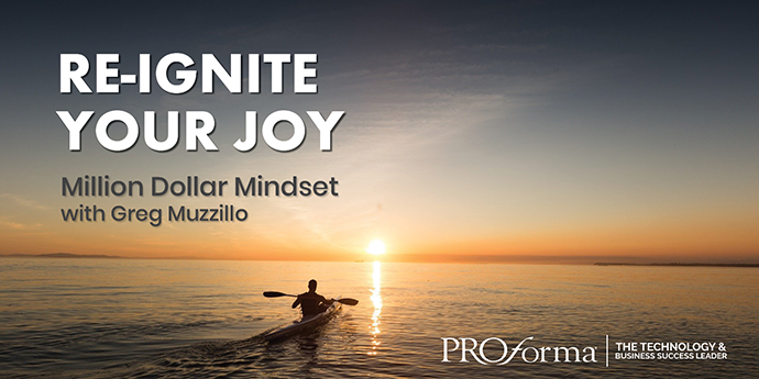 "Image with man on a kayak out at sea. Image also has the words ""re-ignite your joy""."